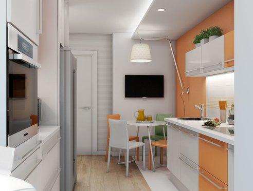 Дизайн интерьера однокомнатной квартиры в современном стиле по ул. Агрономическая 47