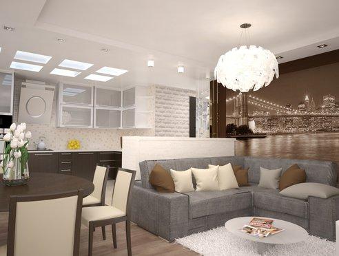 Дизайн интерьера трехкомнатной квартиры по ул. Белинского 222