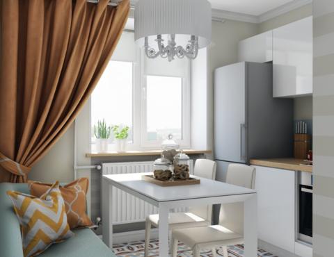 Дизайн интерьера однокомнатной квартиры по ул. Мичурина 231