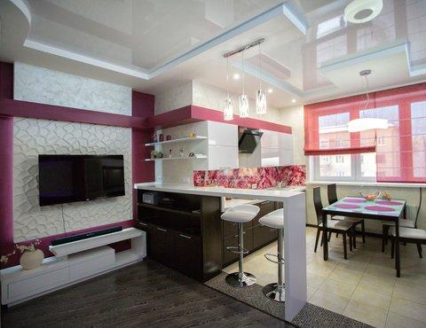 Дизайн интерьера и ремонт трехкомнатной квартиры по ул. Попова 33а