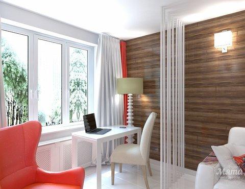 Дизайн интерьера однокомнатной квартиры в стиле минимализм по ул. Чапаева 30