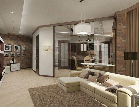 Дизайн интерьера трехкомнатной квартиры по ул. Куйбышева 21