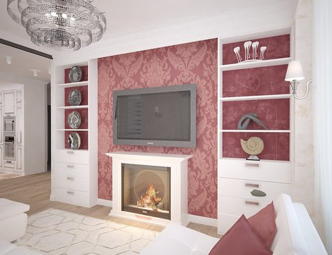 дизайн интерьера гостиной четырехкомнатной квартиры