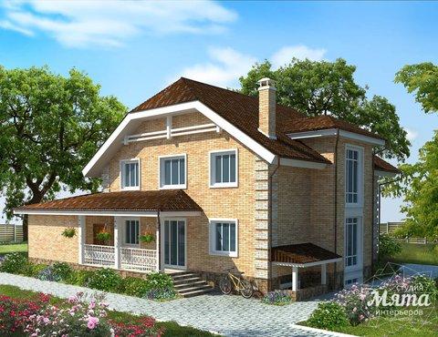 Дизайн проект фасада коттеджа 400 м2