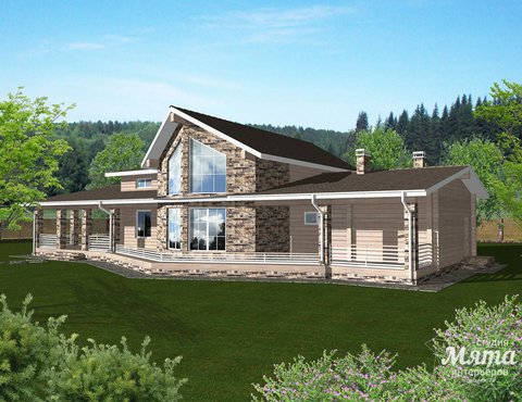 Дизайн фасада дома 165 м2