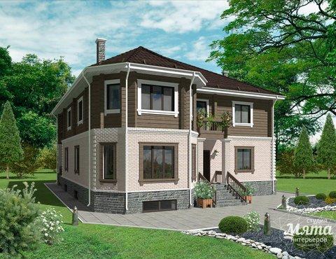 Дизайн проект фасада коттеджа 495 м2