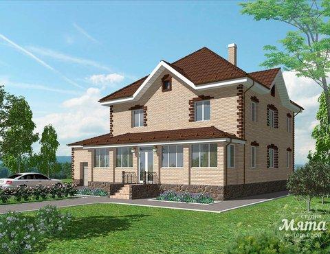 Дизайн проект фасада коттеджа 290 м2 в г. Сургут