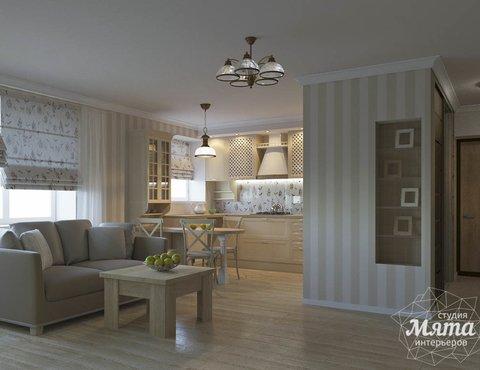 Дизайн интерьера однокомнатной квартиры по ул. Бажова 161