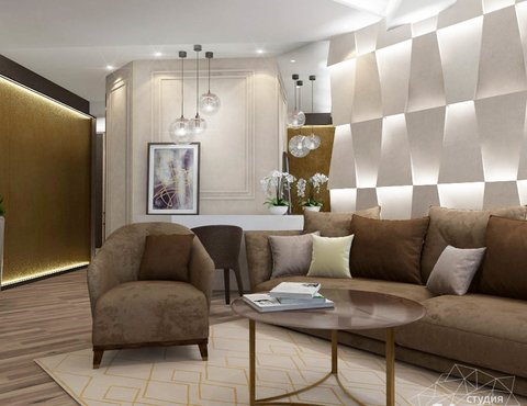 Дизайн интерьера трехкомнатной квартиры по ул. Кузнечная 81