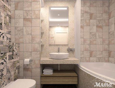 Дизайн интерьера ванной комнаты и санузла по ул. Трактористов 4