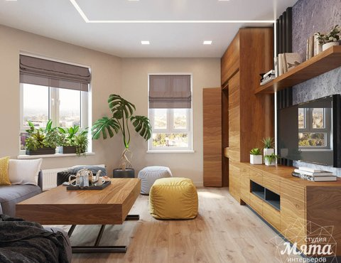 Дизайн интерьера двухкомнатной квартиры в ЖК Расточная