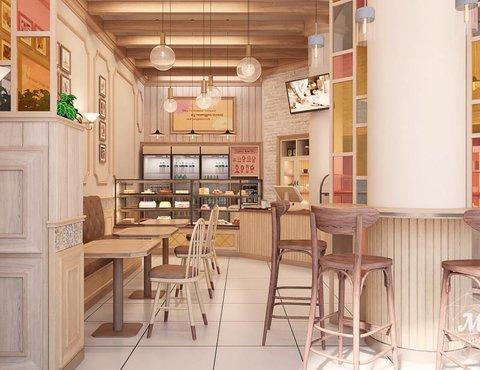 Дизайн интерьера пекарни Сдобная Сказка