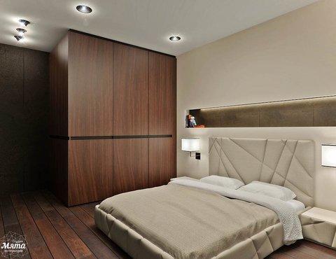 Дизайн интерьера однокомнатной квартиры в стиле хай тек по ул. Щербакова 35