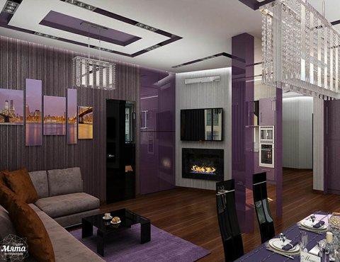 Дизайн интерьера трехкомнатной квартиры по ул. Николая Никонова 4