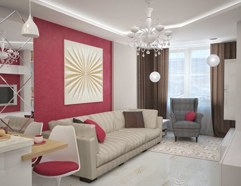 Дизайн интерьера и ремонт трехкомнатной квартиры по ул. Фучика 9