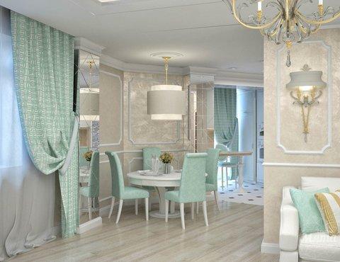 Дизайн интерьера и ремонт трехкомнатной квартиры по ул. 8 Марта 190