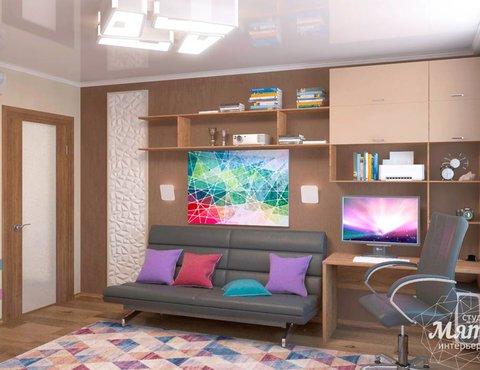 Дизайн интерьера однокомнатной квартиры по ул. Соболева 19