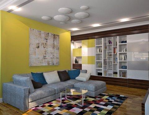 Дизайн интерьера двухкомнатной квартиры по ул. Комсомольская 14