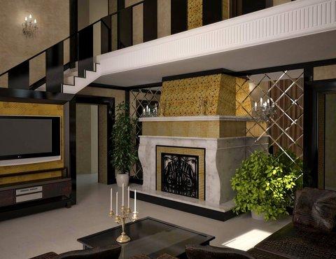Дизайн интерьера коттеджа в п. Н. Рассоха