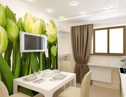 Дизайн интерьера двухкомнатной квартиры по ул. Бебеля 156