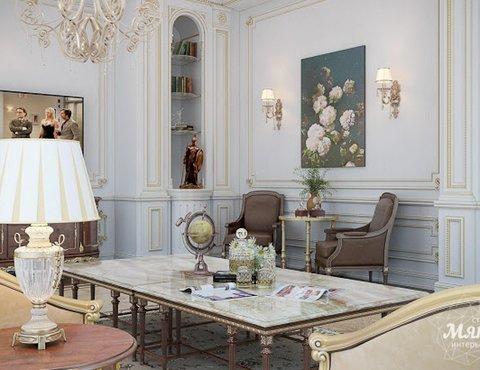Дизайн интерьера коттеджа классическом стиле в Карасьозерске