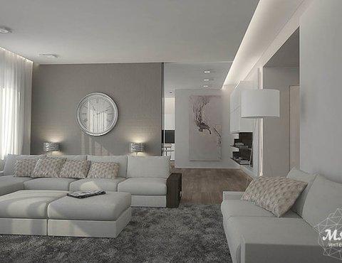 Дизайн интерьера трехкомнатной квартиры в Антаресе 2