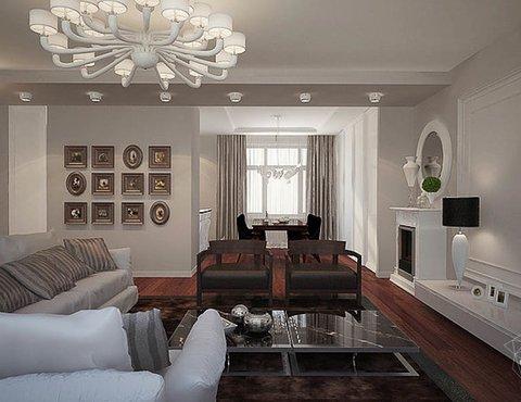 Дизайн интерьера трехкомнатной квартиры в Тихвине
