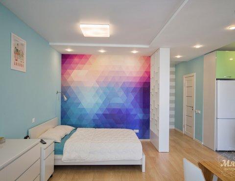 Дизайн интерьера и ремонт однокомнатной квартиры по ул. Хохрякова 43