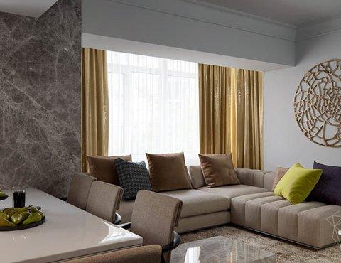 Дизайн интерьера двухкомнатной квартиры в Москве