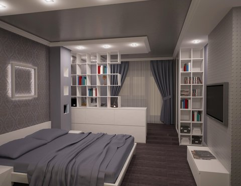 Дизайн интерьера однокомнатной квартиры по ул. Посадская 34