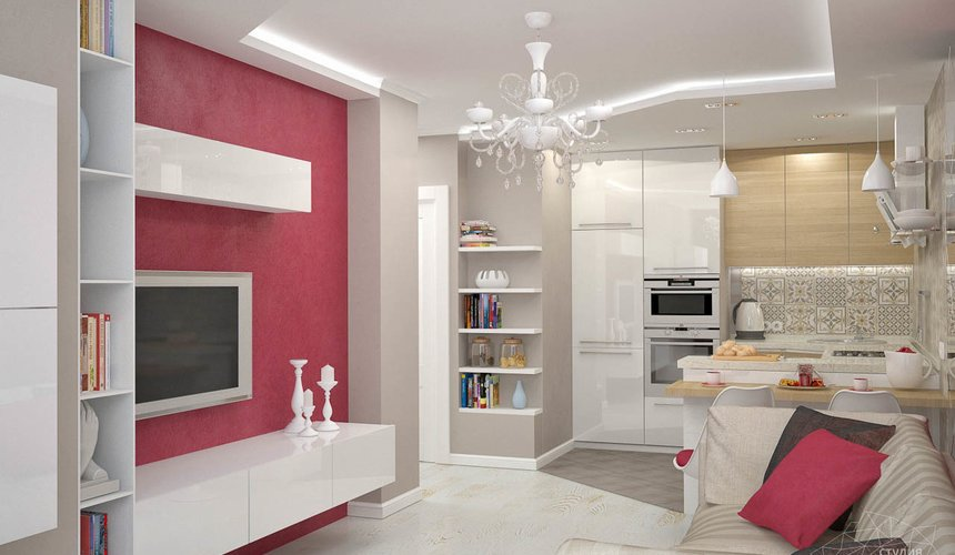 Дизайн интерьера и ремонт трехкомнатной квартиры по ул. Фучика 9 78