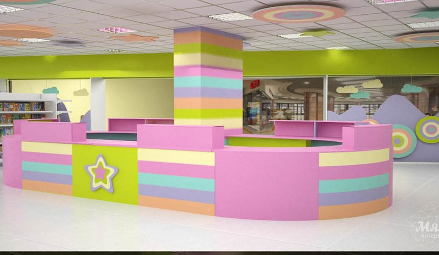 Дизайн интерьера и ремонт детского гипермаркета по ул. Щербакова 4 51