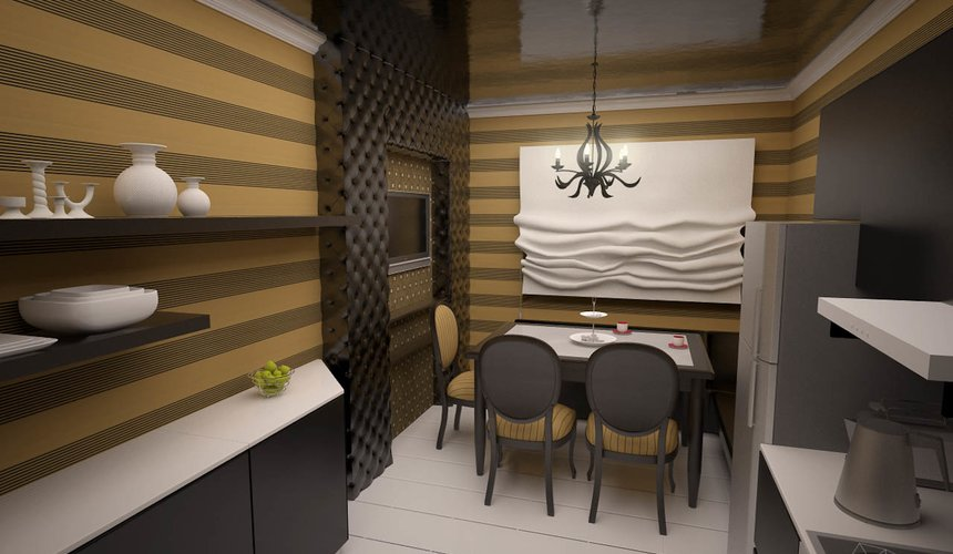Дизайн интерьера однокомнатной квартиры по ул. Посадская 34 4