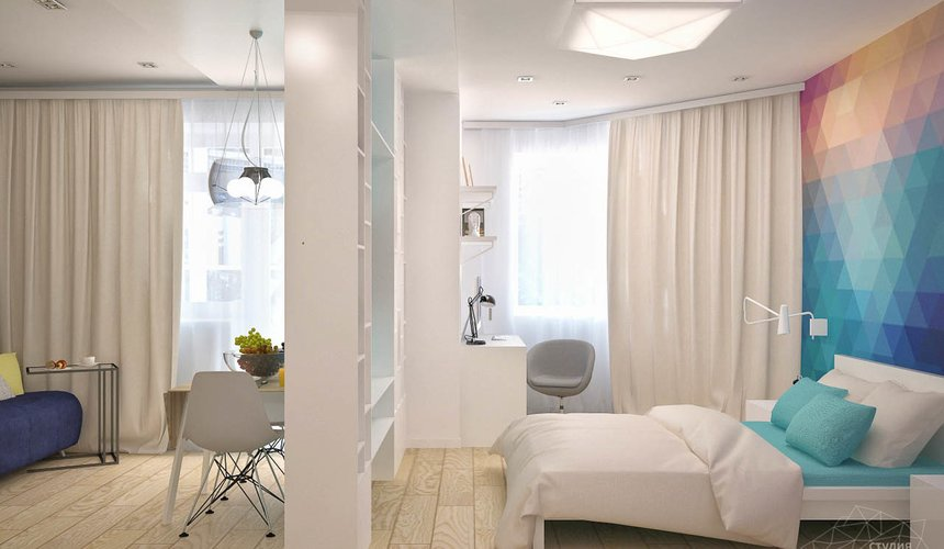 Дизайн интерьера и ремонт однокомнатной квартиры по ул. Хохрякова 43 72