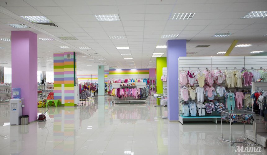 Дизайн интерьера и ремонт детского гипермаркета по ул. Щербакова 4 18