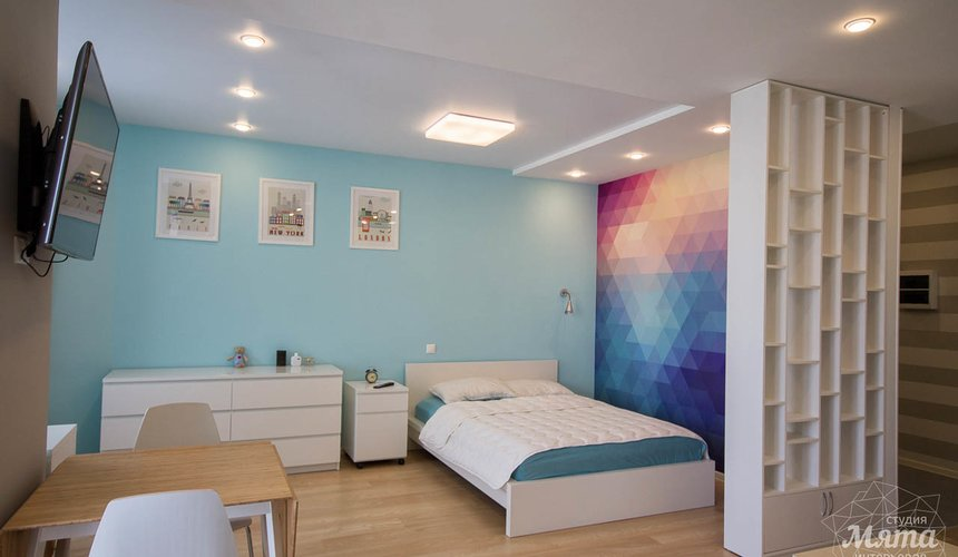 Дизайн интерьера и ремонт однокомнатной квартиры по ул. Сурикова 53а 9