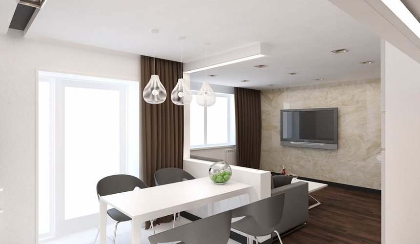 Дизайн интерьера однокомнатной квартиры по ул. Гагарина 27 4