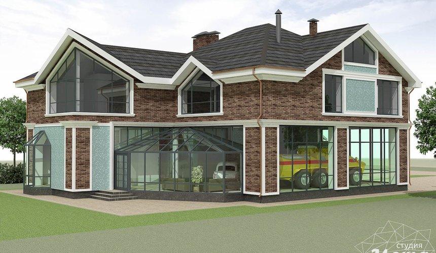 Дизайн фасада коттеджа в п. Палникс 5