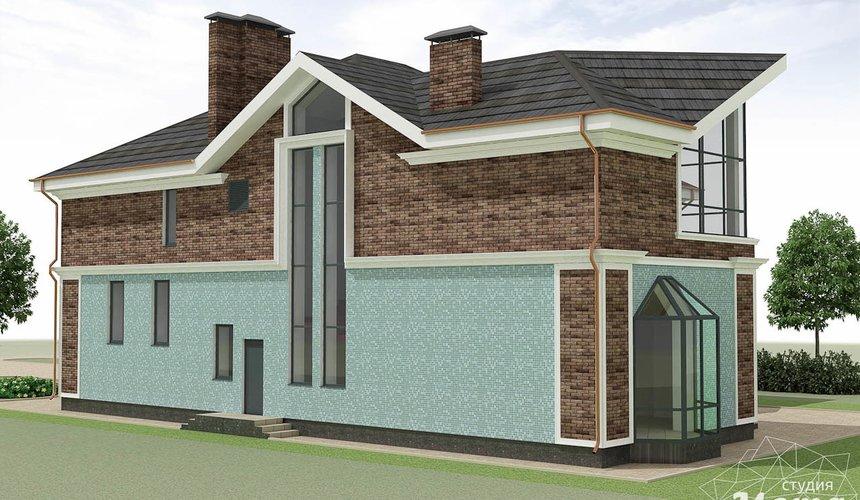 Дизайн фасада коттеджа в п. Палникс 6