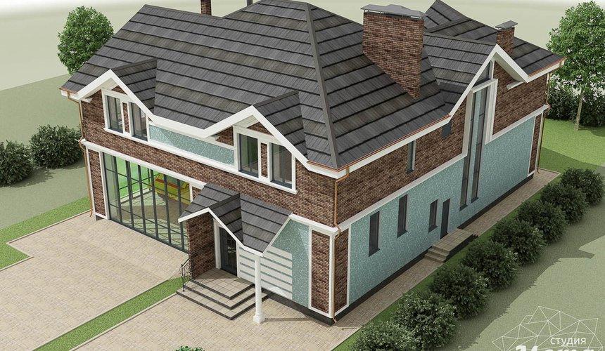 Дизайн фасада коттеджа в п. Палникс 8