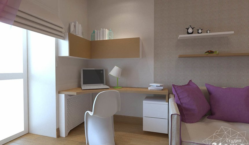 Дизайн интерьера трехкомнатной квартиры по ул. Мельникова 27 10