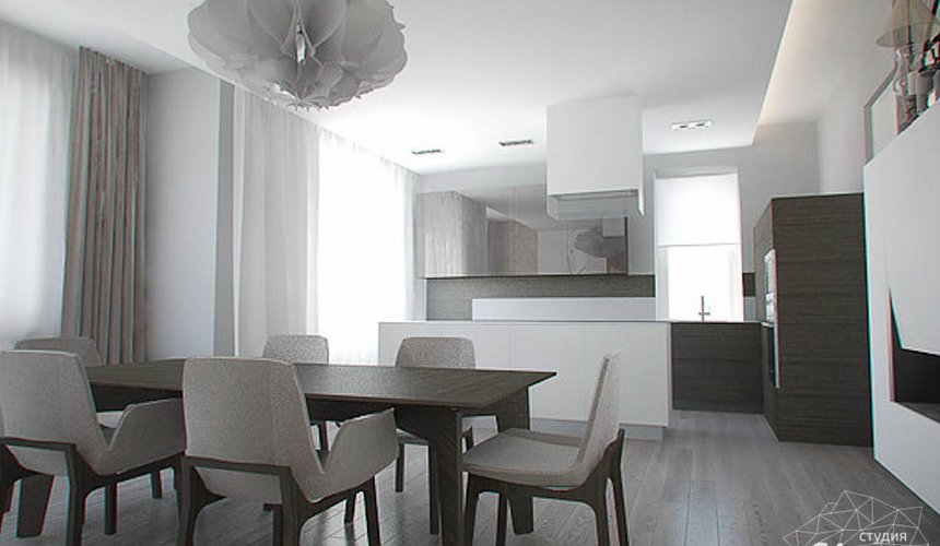 Дизайн интерьера трехкомнатной квартиры в Тихвине 2 8