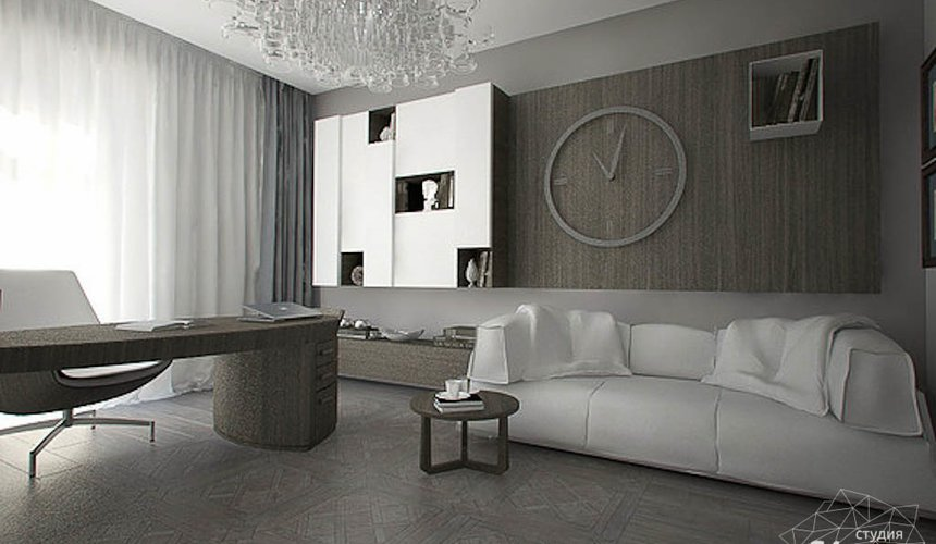 Дизайн интерьера трехкомнатной квартиры в Тихвине 2 13