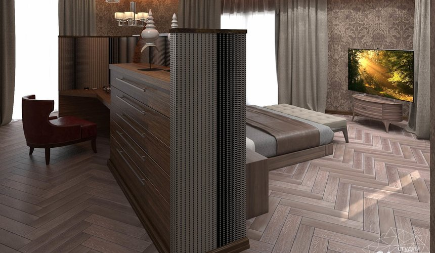 Дизайн интерьера коттеджа в п. Дубрава 33