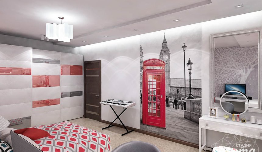 Дизайн интерьера и ремонт трехкомнатной квартиры по ул. Авиационная, 16  82