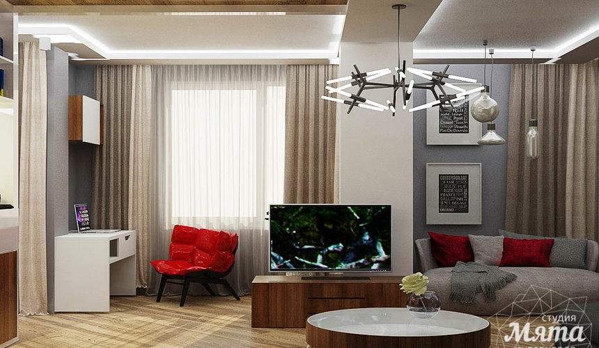Дизайн интерьера и ремонт трехкомнатной квартиры по ул. Татищева 49 85