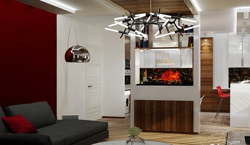 Дизайн интерьера и ремонт трехкомнатной квартиры по ул. Татищева 49 84