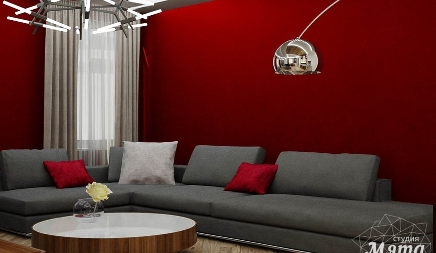 Дизайн интерьера и ремонт трехкомнатной квартиры по ул. Татищева 49 86