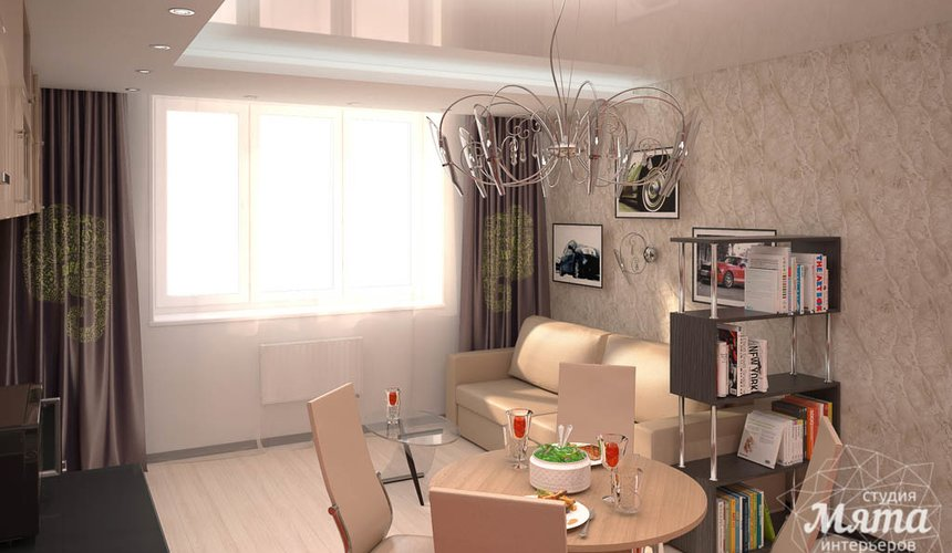 Дизайн интерьера однокомнатной квартиры по ул. Электриков 5 4