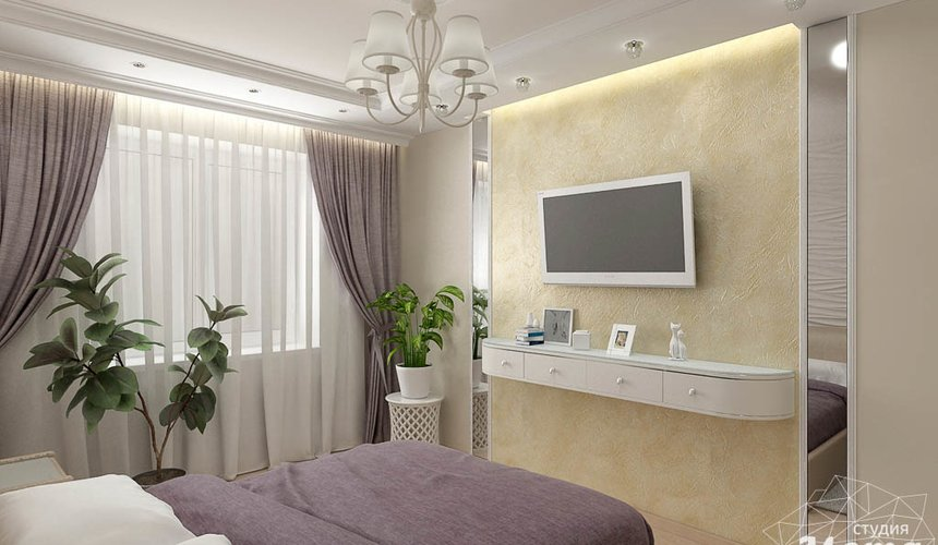 Дизайн интерьера двухкомнатной квартиры по ул. Шаумяна 93 13